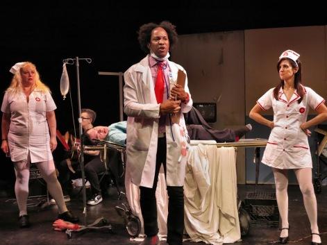 L-R: Sara Cook, musician____, Xan Aspero, Levi Wise, Robin Brenner. Photo by Jonathan Slaff.